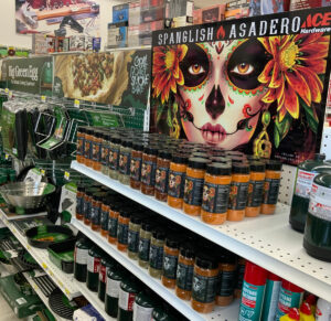 spanglish asadero seasonings, central coast ace hardware, grill aisle, best prices, watsonville