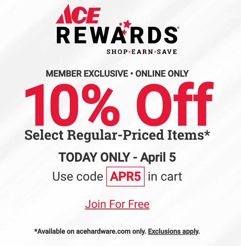 save 10 percent, online orders, central coast ace, sales in watsonville, gilroy, freedom, marina, salinas