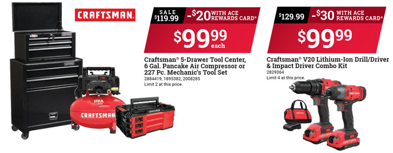 craftsman, father's day tool sales, best prices, tool box, ace hardware gilroy watsonville