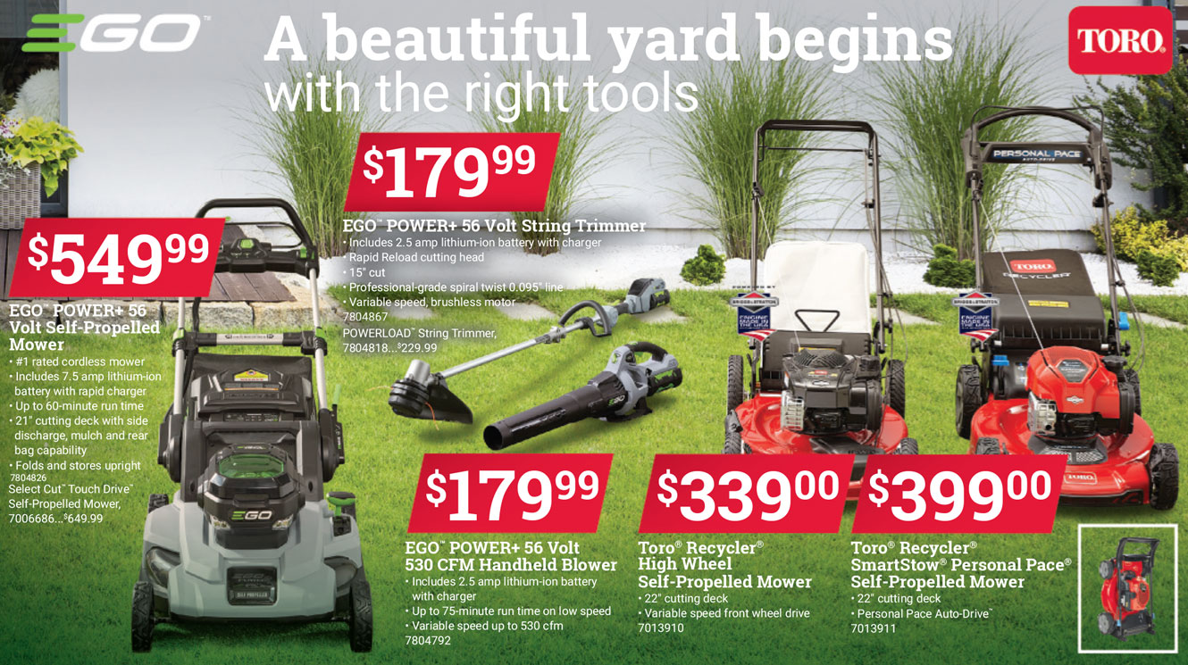 ego power toro lawn mower, best lawn mowers, lawnmower in watsonville gilroy freedom marina salinas, sales deals best prices central coast ace hardware