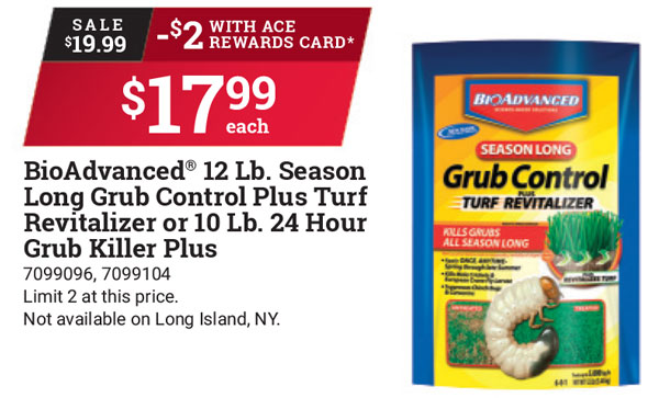 bioadvanced grub control, turf revitalizer, lawn care products, watsonville freedom, marina gilroy ace hardware