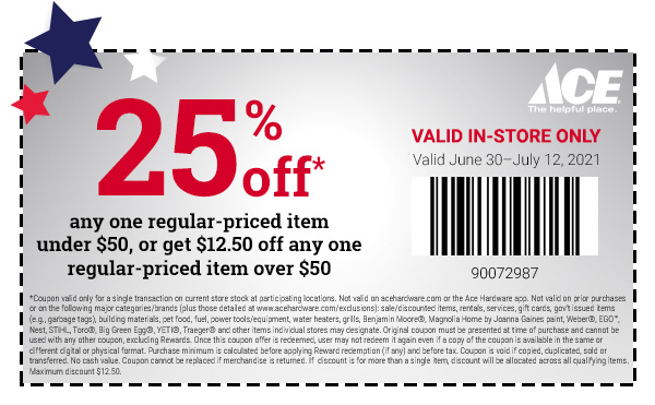 4th of july coupons in watsonville salinas marina ace hardware