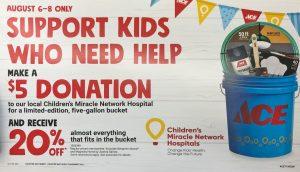 children's miracle network cmn donations bucket ace hardware watsonville marina salinas gilroy freedom