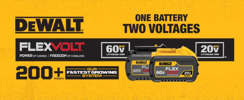 dewalt cordless battery tools flexvolt lithium ion