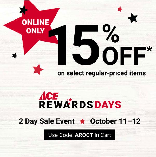 october sales, online only, ace rewards days, central coast ace hardware
